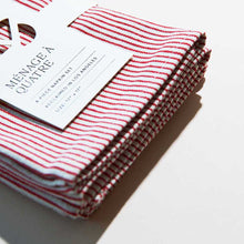 Load image into Gallery viewer, CANDY STRIPE NAPKIN SET OF 4
