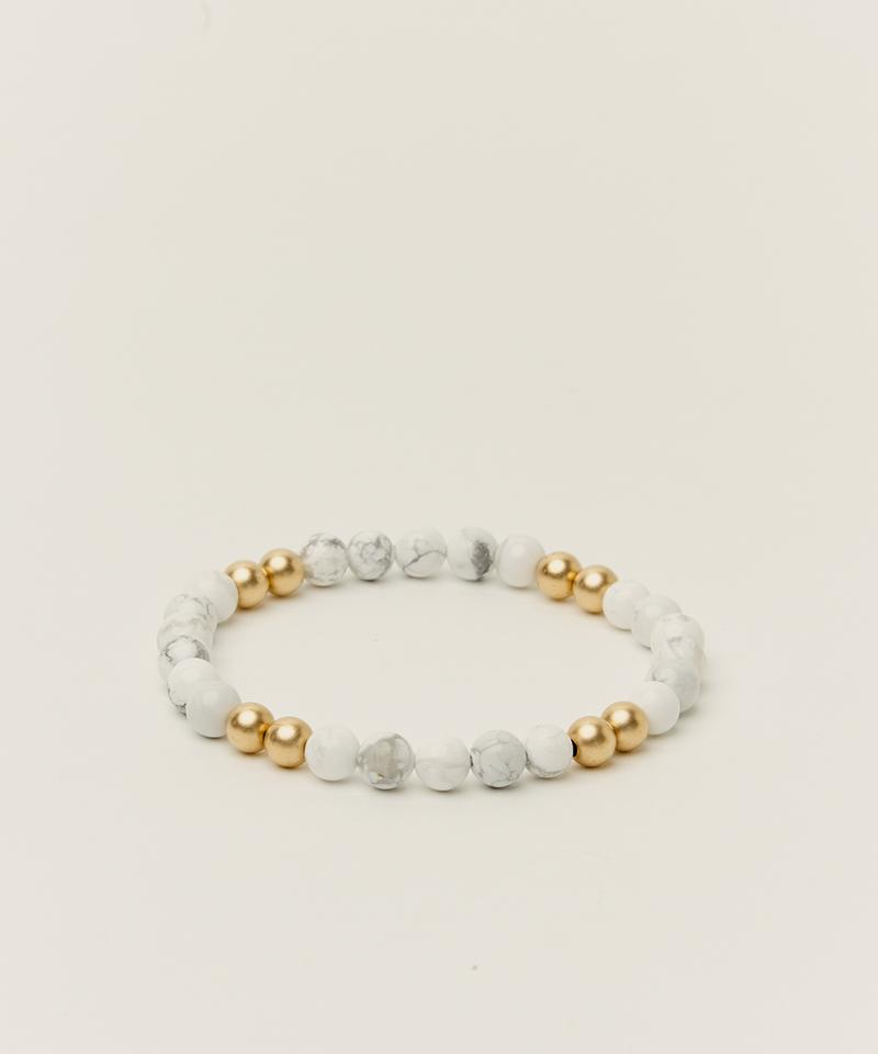 BYRON BRACELET WITH HOWLITE & 14K GOLD