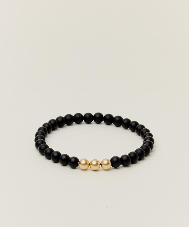 POWER BRACELET WITH ONYX & 14K GOLD