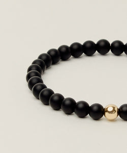PROTECTION BRACELET WITH ONYX & 14K GOLD