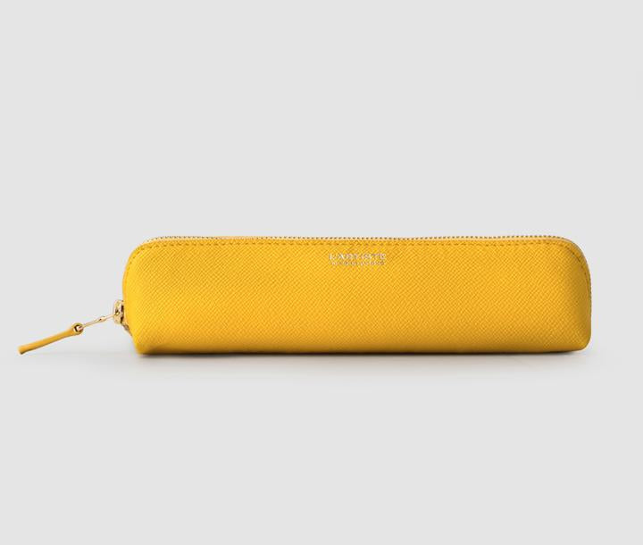 PENCIL CASE IN YELLOW, SMALL
