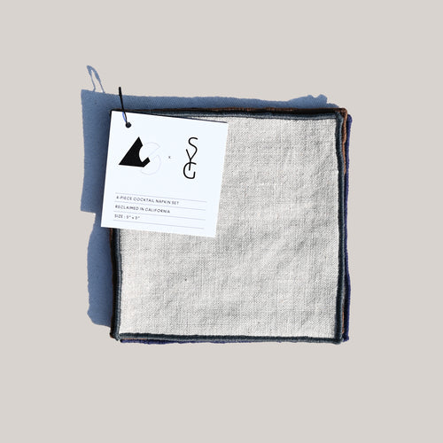 AS x SYG OATMEAL LINEN COCKTAIL NAPKINS