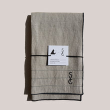 Load image into Gallery viewer, AS x SYG OATMEAL LINEN TEA TOWELS