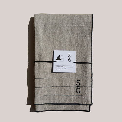 AS x SYG OATMEAL LINEN TEA TOWELS