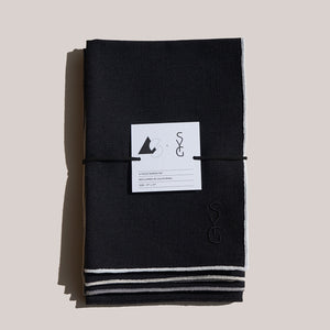 AS x SYG BLACK LINEN NAPKINS