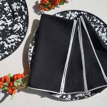 Load image into Gallery viewer, AS x SYG BLACK LINEN NAPKINS