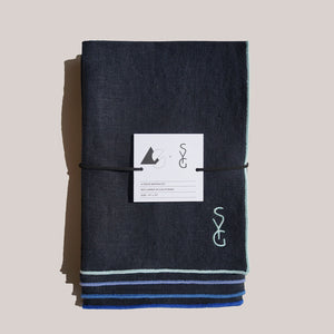 AS X SYG NAVY LINEN NAPKINS