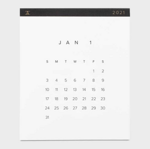 2021 WALL CALENDAR IN CHARCOAL GREY