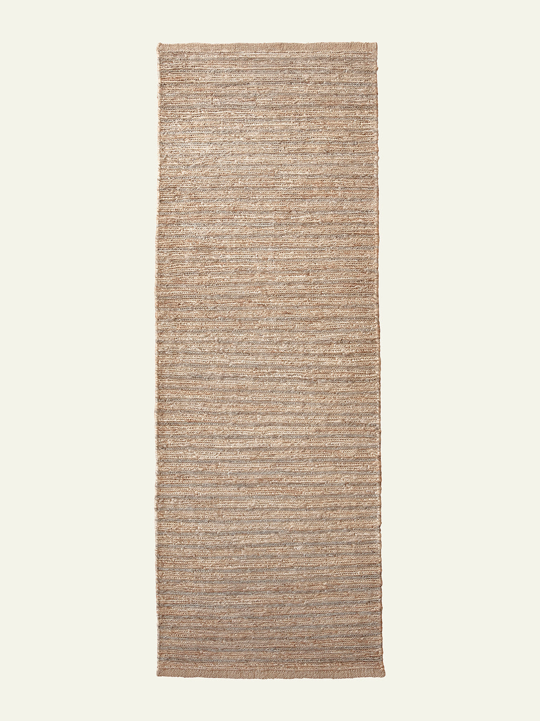 RIVER ECHO RUNNER IN NATURAL & PEWTER, 2' X 6'