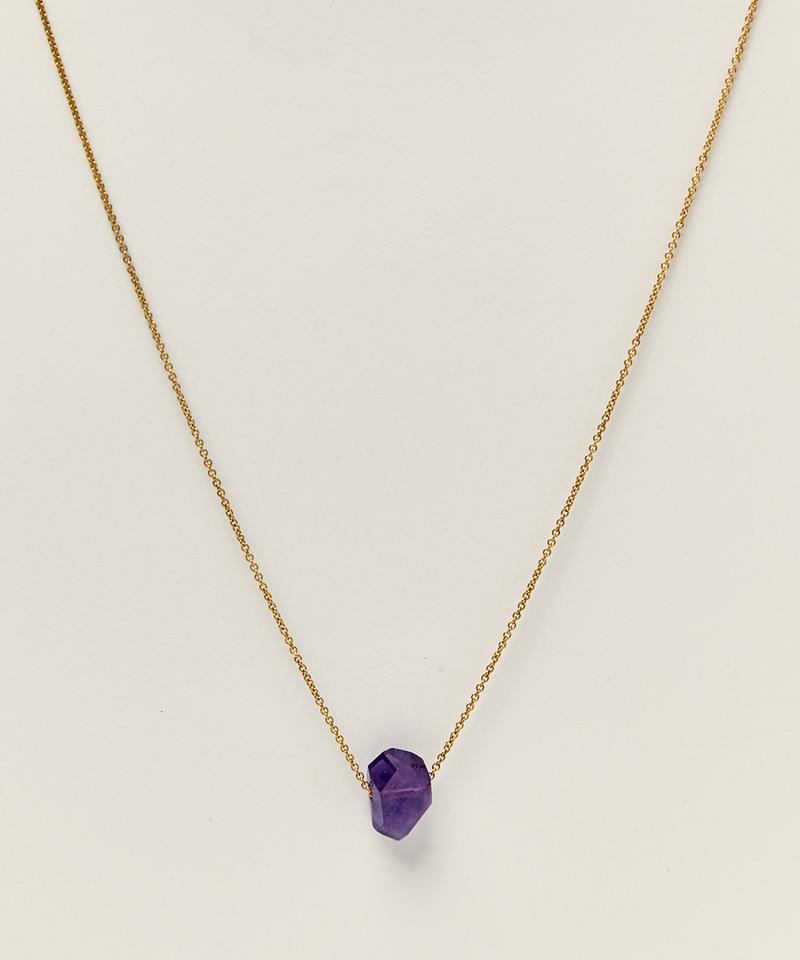 14K GOLD-FILLED NECKLACE WITH AMETHYST