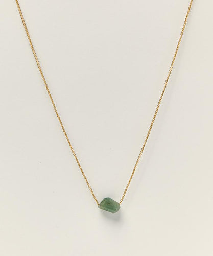 14K GOLD-FILLED NECKLACE WITH EMERALD