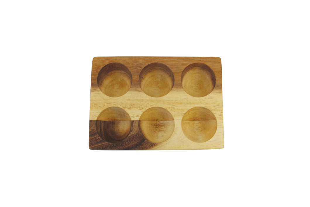 ACACIA EGG HOLDER HALF-DOZEN