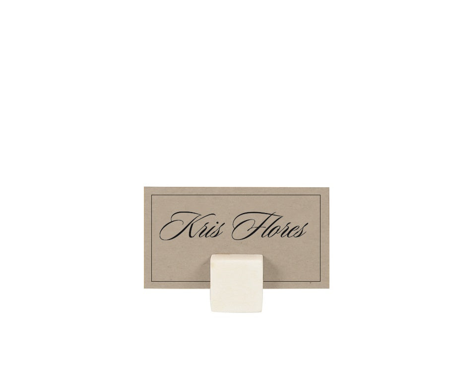 MARBLE CUBE PLACECARD HOLDER