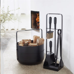 EMMA FIREPLACE COMPANION SET IN NOIR