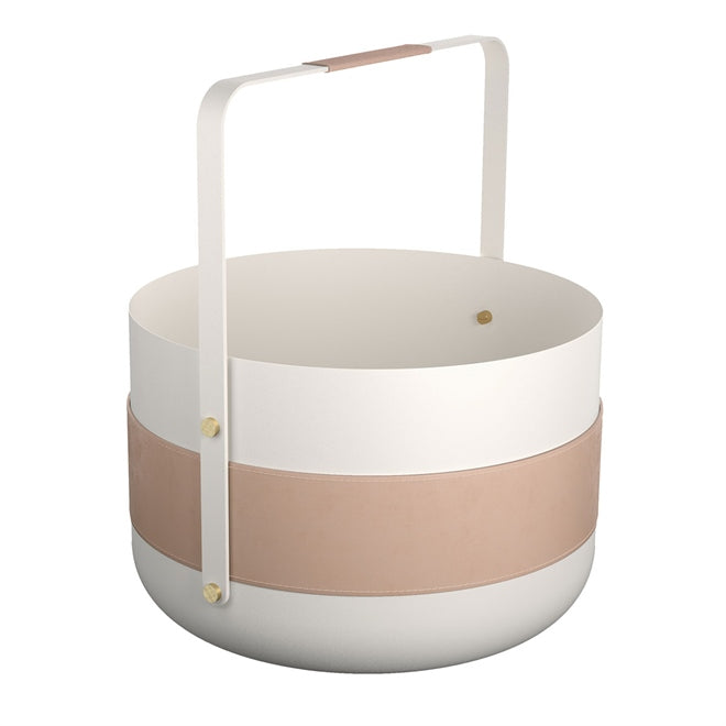EMMA FIREWOOD BASKET IN WHITE