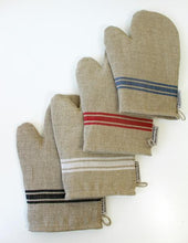 Load image into Gallery viewer, WHITE STRIPE OVEN MITT