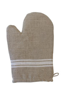 WHITE STRIPE OVEN MITT