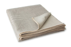 HARVEST MOON REVERSIBLE THROW IN LIGHT HEATHER/IVORY
