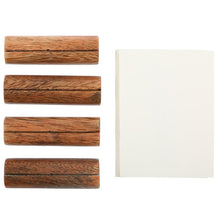 Load image into Gallery viewer, WOOD CARD HOLDERS, SET OF 4