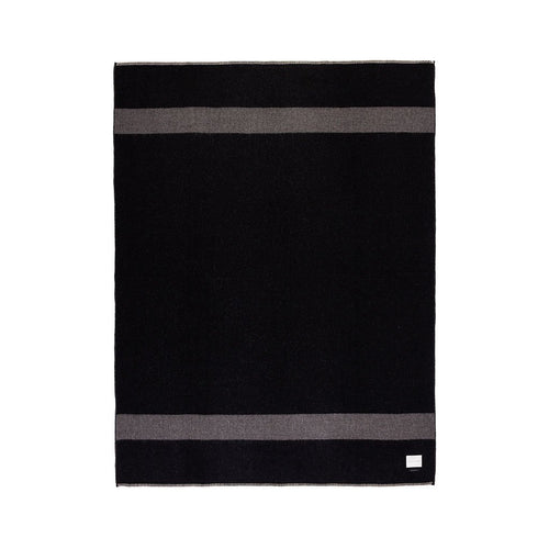 MASON REVERSIBLE THROW IN BLACK/UNDYED CHARCOAL