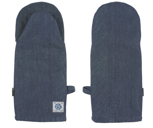 RAW DENIM DUAL HAND OVEN MITT