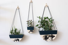Load image into Gallery viewer, HALF MOON HANGING PLANTER IN DEEP OCEAN, LARGE