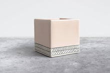 Load image into Gallery viewer, LARGE HERRINGBONE PLANTER SUMMER SWEET