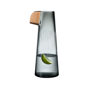 PARROT CARAFE IN SMOKE WITH WHITE LINES