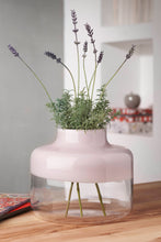 Load image into Gallery viewer, WIDE MAGNOLIA VASE IN OPAL PINK