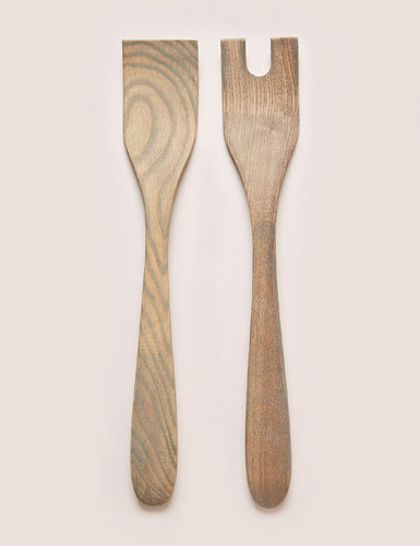 GREY CRAFTED SALAD SERVERS