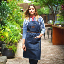 Load image into Gallery viewer, SELVEDGE DENIM & LEATHER APRON