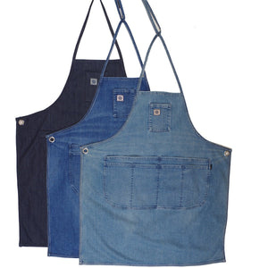 LIGHT VINTAGE INDIGO DENIM APRON