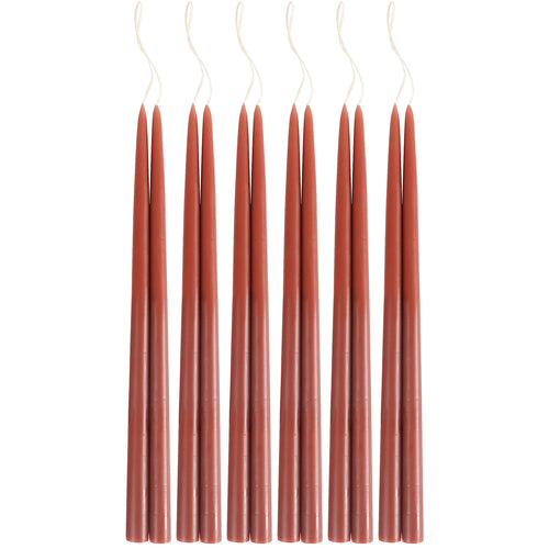 "CLAY TAPER 12"" CANDLE"