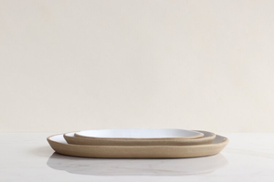 WHITE SMALL OVAL DISH