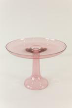 GLASS CAKE STAND, ROSE