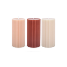 "Load image into Gallery viewer, 6"" FANCY PILLAR CANDLE"