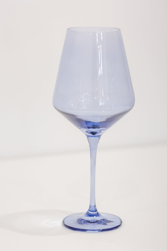 COBALT WINE GLASSES, SET OF 6