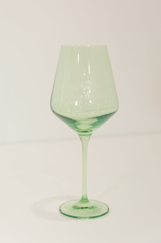 MINT GREEN WINE GLASSES, SET OF 6