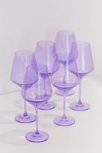 Load image into Gallery viewer, LAVENDER WINE GLASSES, SET OF 6