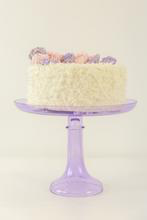 Load image into Gallery viewer, GLASS CAKE STAND, LAVENDER