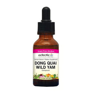Dong Quai Wild Yam 1 Oz with Alcohol by Eclectic Institute Inc (2583955701845)