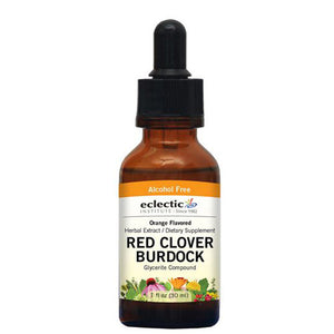 Red Clover-Burdock Orange 2 Oz Alcohol free by Eclectic Institute Inc (2584043389013)