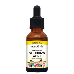 Kid's St. John's Wort Black Cherry,1 Oz by Eclectic Institute Inc (2590060970069)