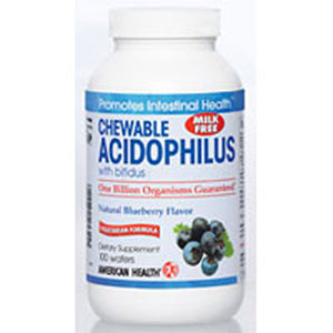 Acidophilus with Bifidum  Blueberry flavor, 100 Wafers by American Health (2583969497173)
