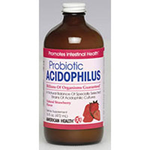 Acidophilus Culture Liquid Strawberry 16 Fl Oz by American Health (2588661645397)