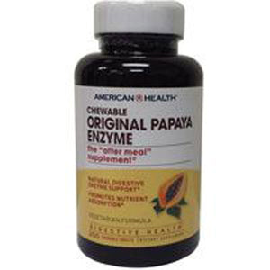 Original Papaya Enzyme 100 Tablets by American Health