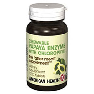 Papaya Enzyme With Chlorophyll 600 Chewable Tablets by American Health