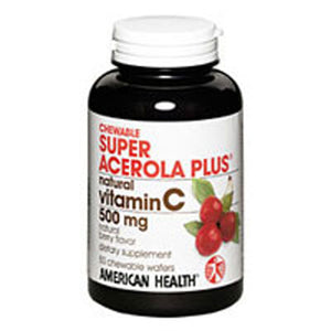 Super Acerola Plus Chewable 100 Tabs by American Health