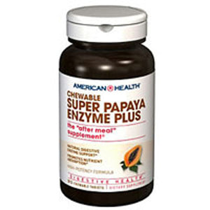 Super Papaya Enzyme Plus 90 Chewable Wafers by American Health (2583970447445)