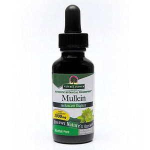 Mullein Leaf ALCOHOL FREE,1 OZ by Nature's Answer (2588701917269)